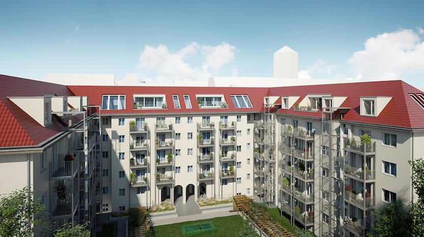 Courtyard after modernisations