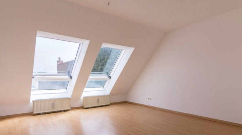 Living-room with big windows