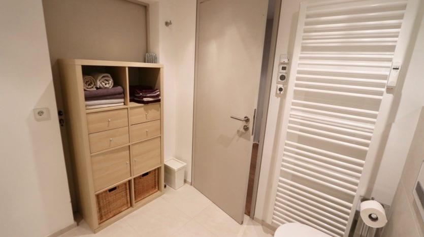 Bathroom with a closet