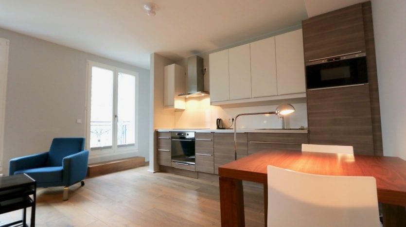 living-room and kitchen corner